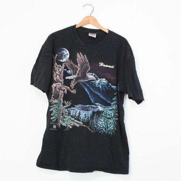 Vintage Other - Vintage Hawaii Eagle Forest Moon T Shirt